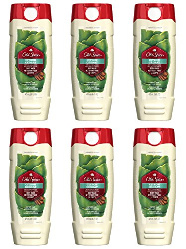 Old Spice Fresher Collection Men's Body Wash, Citron, 16 Fluid Ounce (Pack of ()