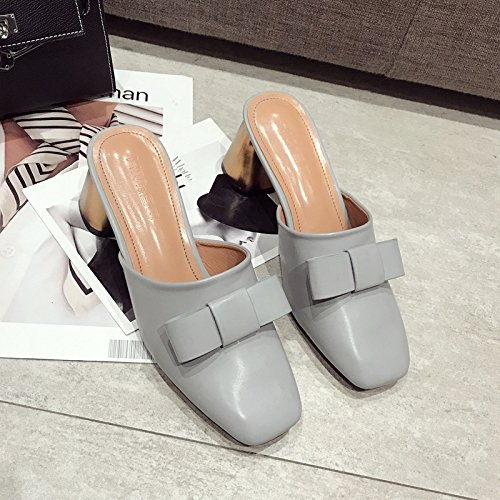 All le scarpe Qingchunhuangtang blue sandali pantofole con primavera con grossolana ed e Match con In estate TqTgB7w