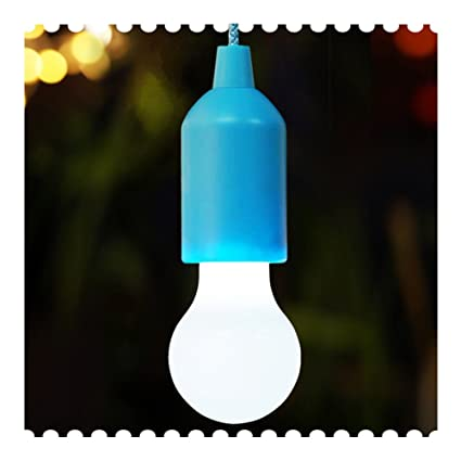 Bright zeal color changing led pull cord light blue socket playhouse tent lamp