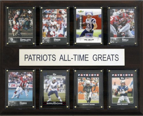 New England Patriots Memorabilia - NFL New England Patriots All-Time Greats Plaque