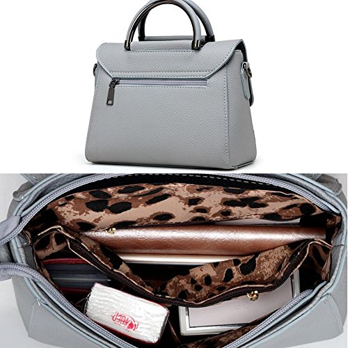 Moderne elegante Handtaschen-Schulter-Beutel-Geldbeutel-Crossbody Beutel PU-Leder, Schwarz