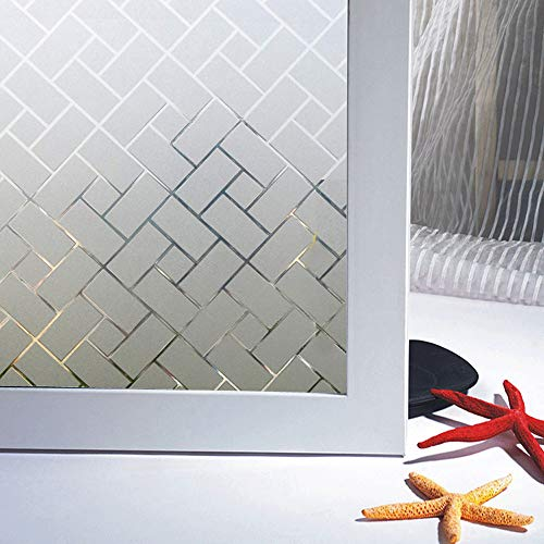 Bloss 3D Window Films No Glue Self-Adhesive Decorative Home/Office Privacy Glass Stickers (17.7-by-78.7 Inches)