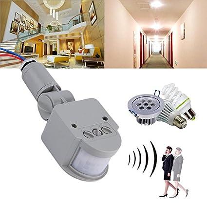 Interruptor de sensor de movimiento PIR infrarrojo automático AC 220 V para luz LED
