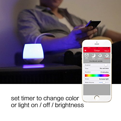 2-Pack PLAYBULB LED Candles Free App - Smart Bluetooth Color Changing Flameless Candles with Timer and APP Remote Control - for Kids / Party / Night Light / Candle Holder / Christmas / Wedding Decor
