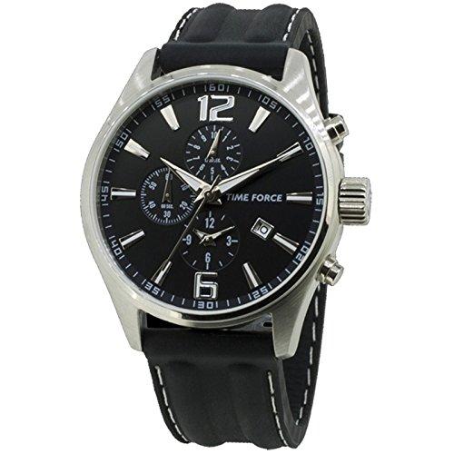 Time Force Tf4045m01 Reloj Analogico Para Hombre Caja De Acero Inoxidable Esfera Color Negro