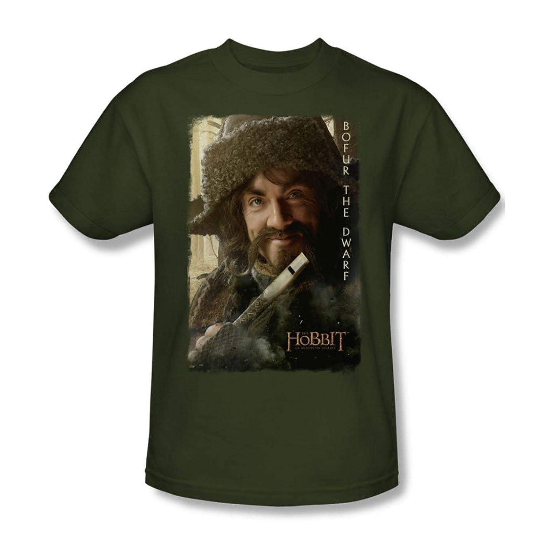The Hobbit - Mens Bofur T-Shirt In Military Green