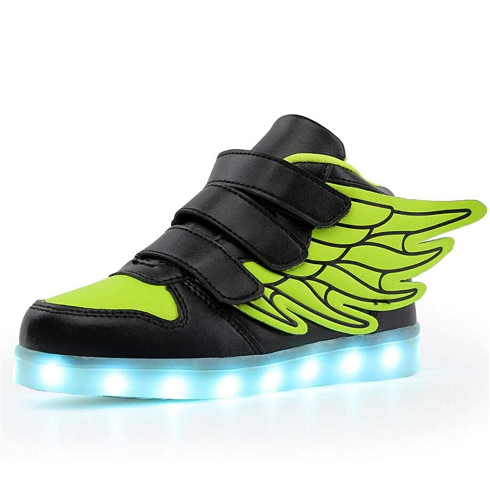 Goodtimeshow New USB Charging Glowing Sneakers Kids led Angels Wings Kids Shoes Girls Boys