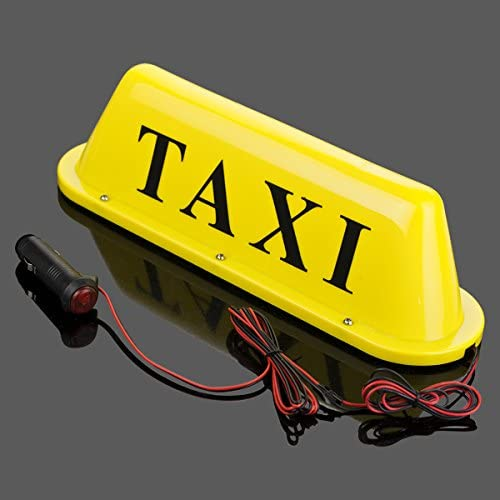 Amazon.com: Taxi Roof parte superior Amarillo con Cartel con ...