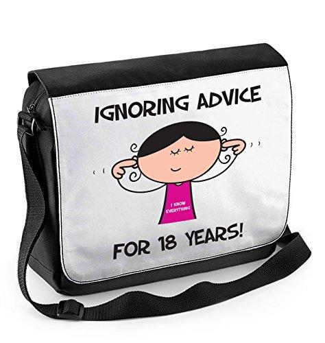 Tribal T-Shirts Ignoring Advice Since 1996 Women's 18th Birthday Laptop Messenger Bag ()