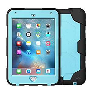 iPad Mini 4 Waterproof Case, iThrough 6.6ft Underwater Case for iPad Mini 4, Dust Proof, Snow Proof, Shock Proof, Dirt Proof, Heavy Duty Touch Screen Protective Case Cover for iPad Mini 4 (Q-Blue)