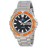Casio Men's EFM100D-1A4V Edifice Stainless Steel Bracelet and Orange Accent Bezel Analog Watch