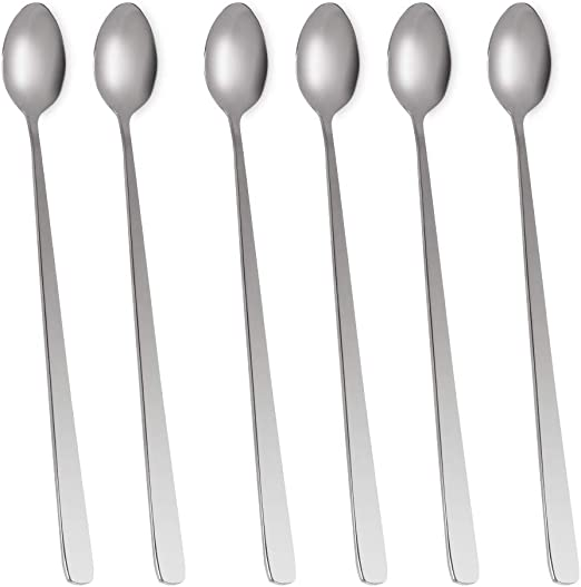 Tea Coffee Dessert Ice Cream Spoon Teaspoon Stainless Steel for Home Bar #1