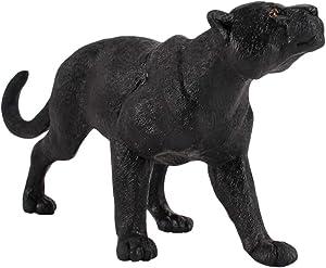 TOYANDONA Mini Wildlife Animals Figurines Plastic Panther Educational Figurine for Children Teaching Toys Desktop Garden Adornment