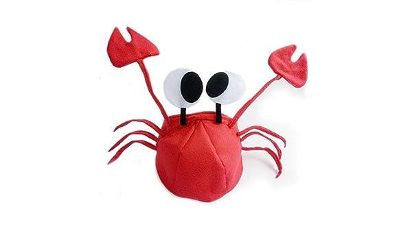 Rojo sombrero de cangrejo Fiesta Disfraz ajustable para niño ...