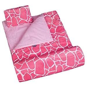 Wildkin Pink Giraffe Plush Sleeping Bag, Pink