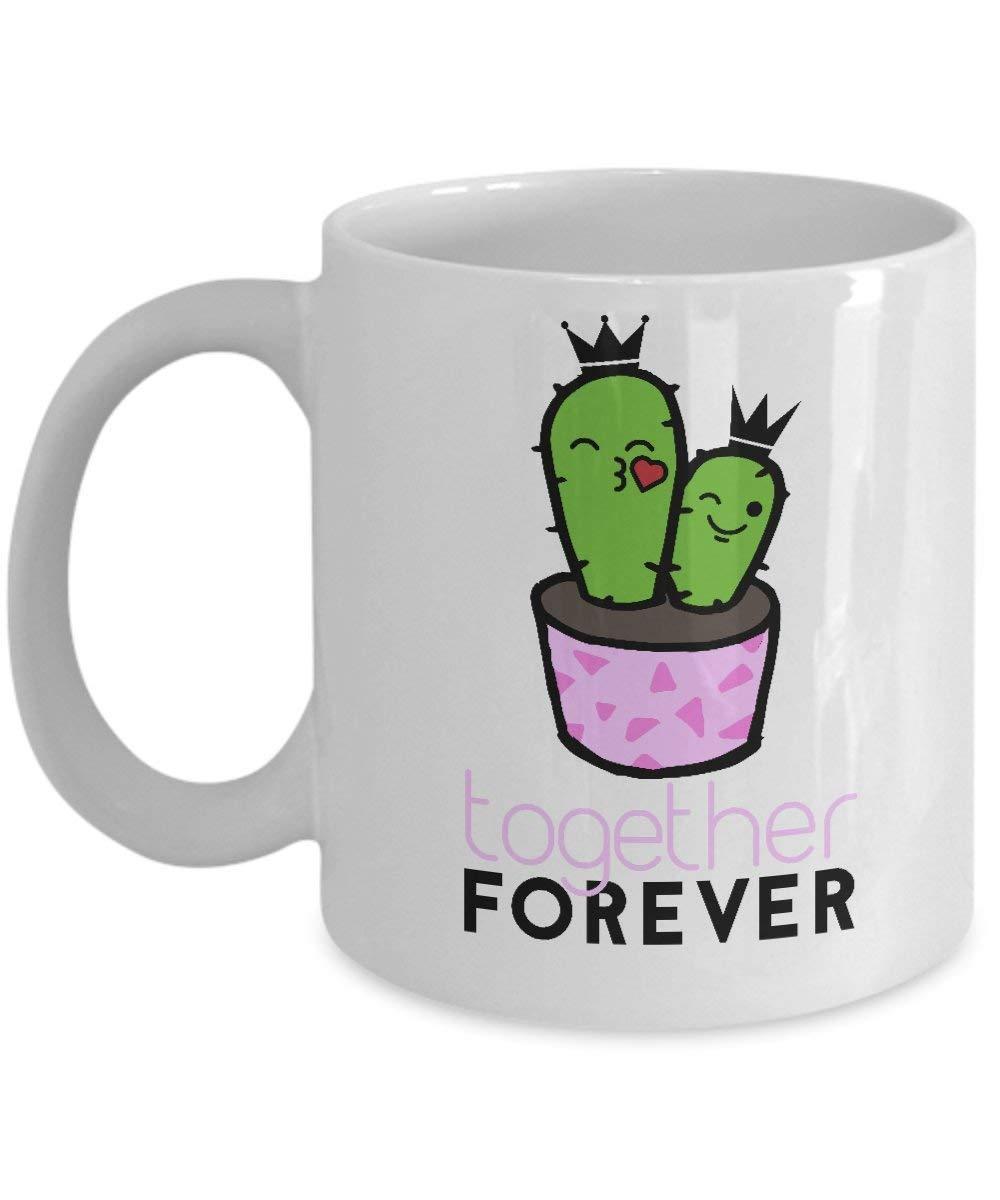 サボテンマグ おもしろ多肉植物 親友 永遠の面白い 引用句 ギフトに最適 コーヒーカップ B07HKH7817