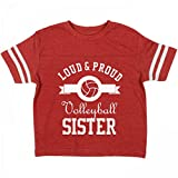 Best Customized Girl Little Sister Tshirts - Customized Girl Loud Proud Volleyball Sister: Toddler Rabbit Review