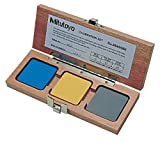 Mitutoyo 64AAA964 Calibration Set For Shore A Scales With Nominal 30, 60, And 90 Blocks Included, With Mahogany Case