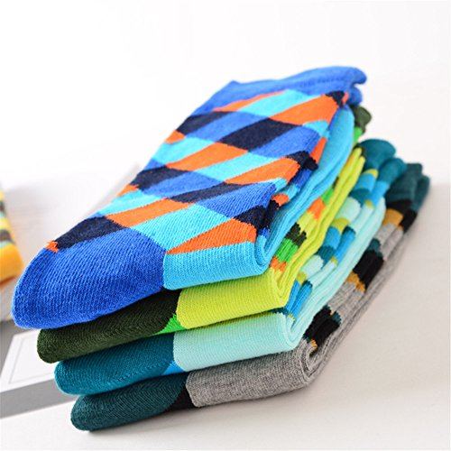 High Patterned Chaussettes En Crew Socks Style Art 4 Coton Homme 8 Casual Xinge pack 4tWxEqaB