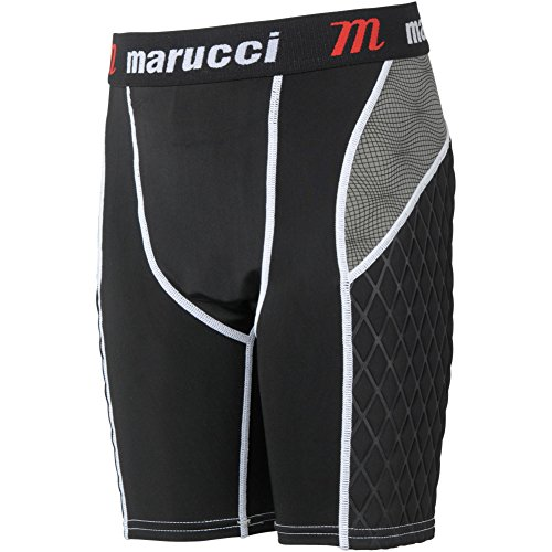 Marucci Youth Elite Padded Slider Shorts with Cup, Medium, Black