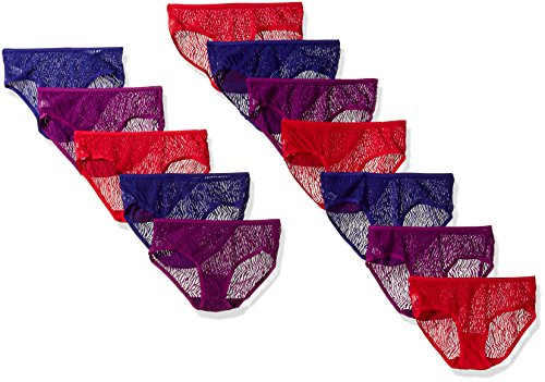 All Over Lace Panties - Fruit of the Loom Women's 12 Pack All Over Lace Hipster Panties, Assorted Fashion, Medium (6)