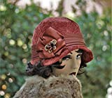 1920s Vintage Style Fall Winter Cloche Hat