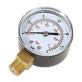 KKmoon 50mm 0~15psi 0~1bar Pool Filter Water Pressure Dial Hydraulic Pressure Gauge Meter Manometer 1/4 NPT Thread