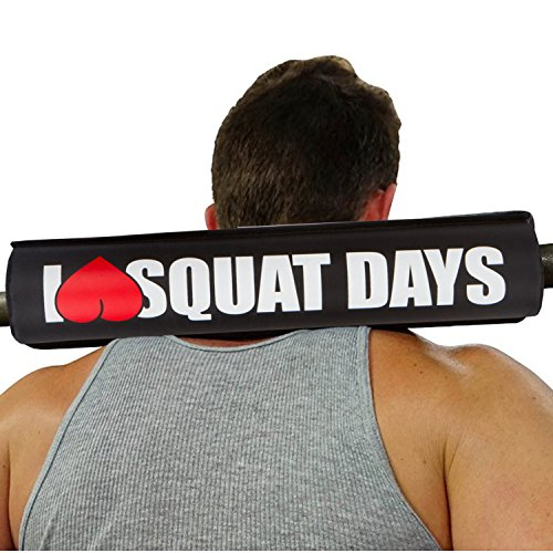 I heart love squat days red barbell squat neck pad for olympic bar women squats padding diameter density fitness shoulde prop standard sets rubber roll plus portable padded supports for shoulders Standard Bar Pad