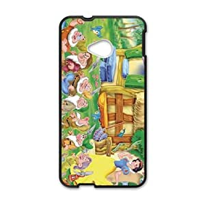 HTC One M7 Cell Phone Case Black Snow White and the Seven Dwarfs Character Bashful god cgiv