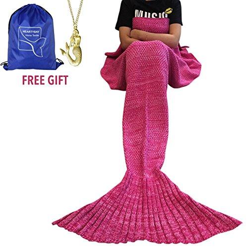 heartybay Crochet Mermaid Blanket Sleeping