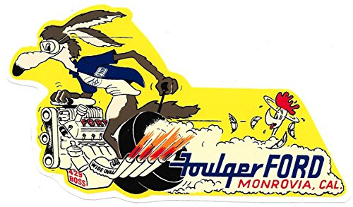 Foulger Ford Racing Decals Stickers 5-1/2 Inches Long Size Vintage Style