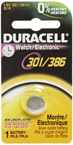 Bulbtronics Duracell 0006726 Silver Oxide Battery, 301/386 Cell, 120mAh Capacity, 1.5V (Case of 24) (Silver Alkaline Oxide)
