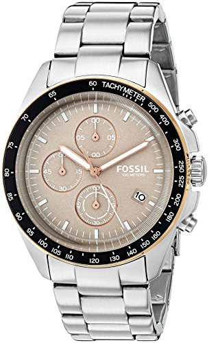 Fossil Men's Quartz Stainless Steel Automatic Watch, Color:Silver-Toned (Model: CH3036)