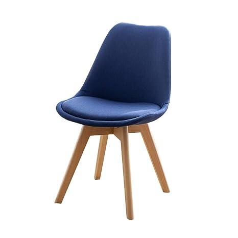 Amazon.com: JiaJu Silla de comedor, sillas de lino con ...