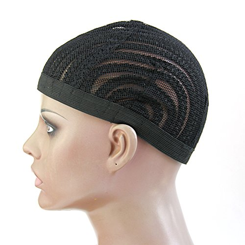Cici Collection 2piece/lot Cornrows Cap For Easier Sew In Braided Wig Caps Crotchet Black Color Spider Braiding Wig Cap Weaving Cap With (Braided Hair Wigs)