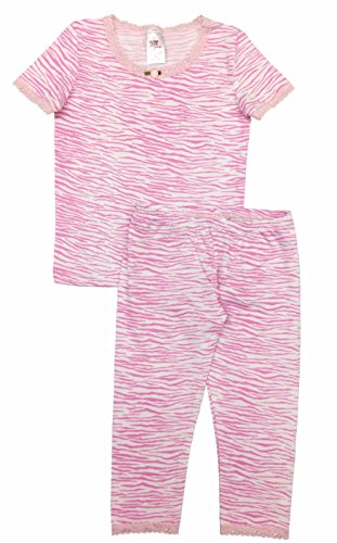 Esme Girl's Sleepwear Short Sleeve Top Leggings Set 7 Zebra