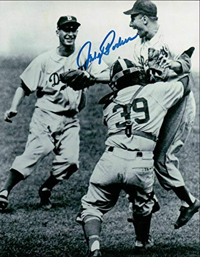 (Johnny Podres Signed Picture - 8X10 Vintage Celebration COA - Autographed MLB Photos)
