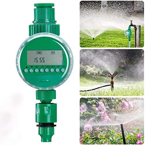 Automatische Bewässerungsuhr Wasser Timer, Digital Bewässerung Controller Zeitmesser Für Garten Pflanz LCD-Display Automatische Bewässerungsuhr,Grün
