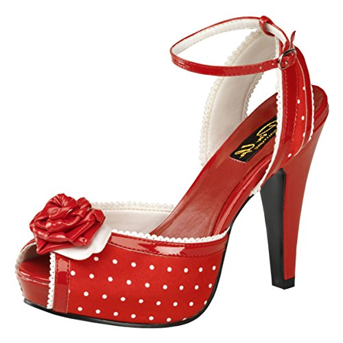 4 1/2 Polkadot Dorsay Sandals Mini Platform Sexy High Heel Shoes Black or Red Size: 10 Colors: - Slingback Platform Sandal Mini