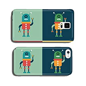 Set of colorful happy hipster robots. cell phone cover case iPhone5