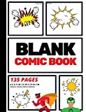 Blank Comic Book: Create Your Own Comic Strip, Blank Comic Panels, 135 Pages, Red (Large, 8.5 x 11 in.) (Action Comics) (V...