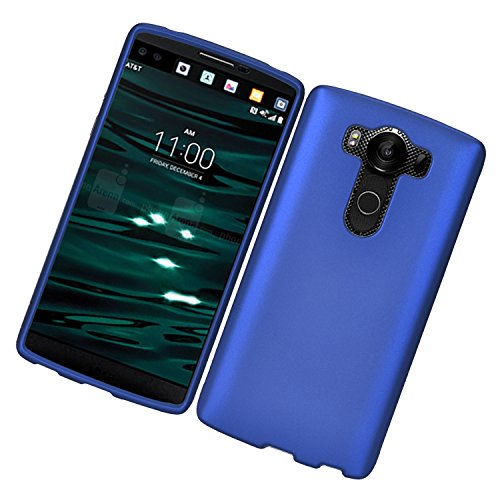 Eagle Cell Rubberized Cell Phone Case for LG V10 - Retail Packaging - Blue