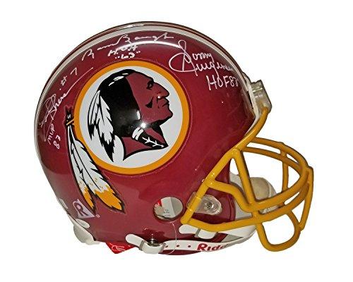 Sammy Baugh Sonny Jurgensen Joe Theismann Doug Williams Mark Rypien & Billy Kilmer Autographed Hand Signed Washington Redskins Full Size Authentic Helmet with Inscriptions JSA Z00867