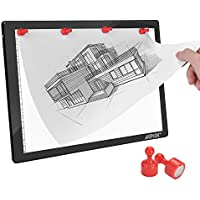 Magnetic A4 LED Artcraft Tracing Light Pad 4 Light Box Ultra-thin physical buttons control with memory function USB Powered Pad Animation,Sketching,Designing,Stencilling X-ray Viewing W/USB Adapter