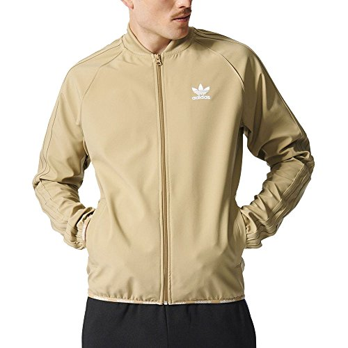 Adidas Men's Superstar Track Top Jacket 2.0 Hemp Beige AZ8123 (Large)