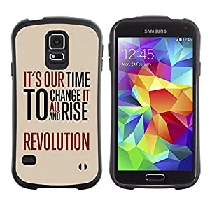 LASTONE PHONE CASE / Suave Silicona Caso Carcasa de Caucho Funda para Samsung Galaxy S5 SM-G900 / Time Revolution Freedom Red Message