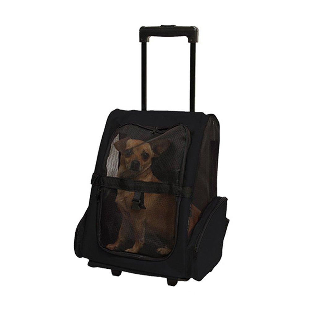 D DS- Pet stroller Pet Stroller Small Foldable Pet Rod Travel Bag Carrying Backpack Breathable Pet Travel Tug Cat Stroller Outdoor Travel Pet Supplies && (color   D)