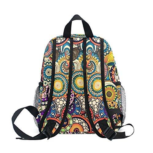 for School ZZKKO Boy Floral Bag Kindergarten Backpack Flower Kids Girls Toddler Tribal Pre Ethnic zxzqwFrT0