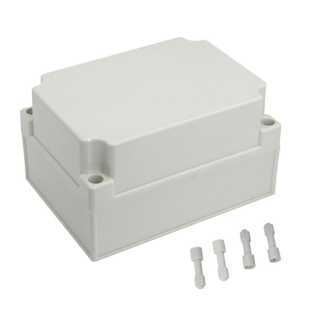LeMotech Waterproof Dustproof IP67 Junction Box DIY Case Enclosure Gray 6.9'' x 4.9'' x 3.9''(175mm x 125mm x 100mm)