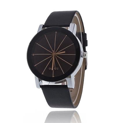 Reloj de pulsera de Pareja - Reloj con correa de cuero, estilo minimalista, reloj